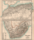 AFRICA NW & SOUTH: Maghreb. Cape Colony electoral divisions. JOHNSTON;1906 map